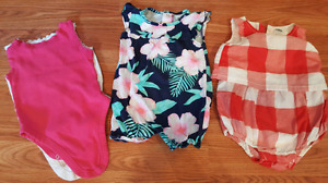 Baby girl 12 - 18 month summer rompers