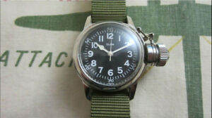 WW2 ELGIN MILITARY CANTEEN WATCH USN BUSHIPS-COLLECTOR ITEM!
