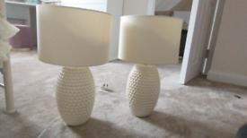 Bedside lights pair