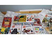 Lego box and books