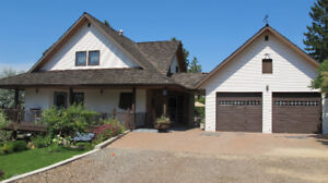 Custom Built, 4200 Sq Ft House on 32 Acres in Barnhartvale