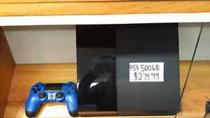 PS4☆☆500GB☆$279.99+tax☆☆519-439-7772