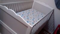 Used Crib for sale With Mattress
