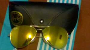 Golden Ray Ban sunglasses for sale