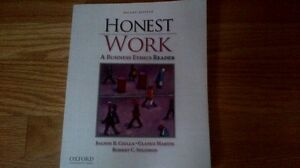Honest Work A Business Ethics Reader