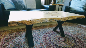 ON SALE! Natural Live Edge Coffee Table