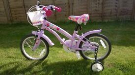Girls bicycle - Apollo Cherrylane Kids' Bike - Age Group: 5-8, as new (hardly ridden)