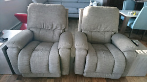 Custom Upholstered Lazy Boy Greyson Reclina-Rocker Recliners