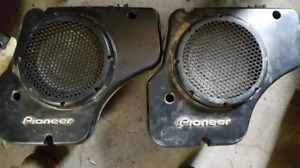 """2 Pioneer 10"""" Subwoofers in boxes. $80 OBO"""