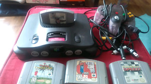 N64 with 4games, 1 controller