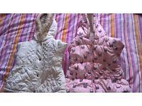 Girls jackets 9-12 months