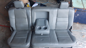 Grey leather seats and consol ford super duty