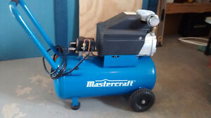 mastercraft 8 gallon air compressor 150.00 firm in excelant sha