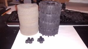 """1.9"""" rc4wd mudslingers with axial 8 hole rims Kitchener / Waterloo Kitchener Area image 3"""