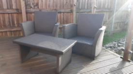 2 Seater rattan table chairs patio dining set outdoor garden furniture