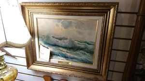 Antique signed Guido oil painting framed
