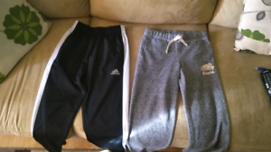 Addidas pants(sm)and roots sweatpants(size 12)