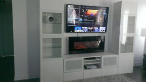 Installation TV Murale / Fixation Support TV au mur ------- 50$