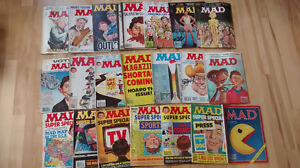 Mad Magazine collection of 20 magazines, 1980s