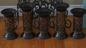 5 Partylite Global Fusion pillar holders