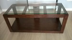 Large Glass Top TV Stand