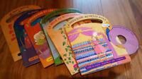 6 livres d'enfants incluant chacun sont CD