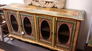 Solid Wood Buffet or Hutch And Corner Display Cabinet