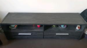 Charcoal/black tv cabinet