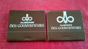 Matchbook Covers-Auberge Des Gouverneurs Kitchener / Waterloo Kitchener Area image 1
