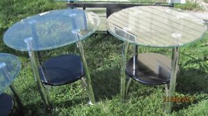 GLASS & BLACK COFFEE TABLE SET & TV STAND