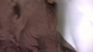 Dark Chocolate Paisley  lined black out curtain rod pocket