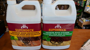 Deck Stain Remover   and Deck Brightener