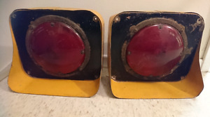 VINTAGE SCHOOL BUS TAIL LIGHTS 1960