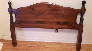 Queen size Headboard with matching floor board sale $15