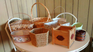 Assorted baskets