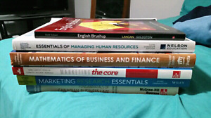 Full Set of 1st Year Holland College Business Admin. Textbooks
