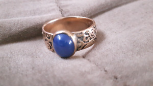(Reduced)gold ring with blue saphire