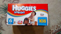 Huggies Snug and Dry, size 6, new box, 108 diapers
