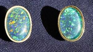 Opal earings set in 18ct gold Wauchope Port Macquarie City Preview