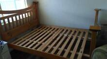 Queen sized bed frame- wooden Lynwood Canning Area Preview