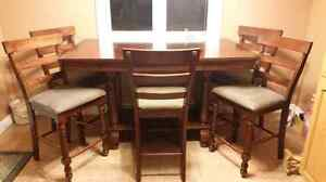 Pub Style 7 Piece Table and Chairs