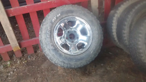 Dodge rims 17 inch only 1 good spare