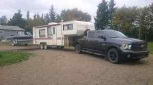 1989 25.5ft prowler lynx 5th wheel camper