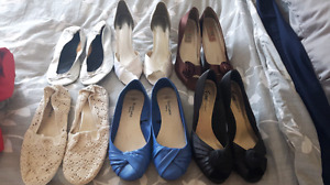 6 pairs shoes size 8