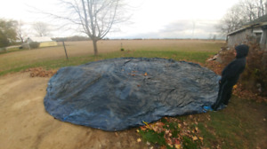27' above ground pool winter cover