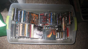 Hundreds of CDs, lots of metal and rock, also DVDs - $12345