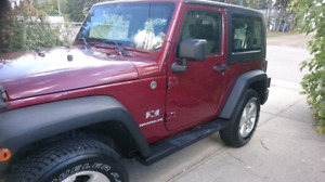 Jeep wrangler low kms/trades acceptef