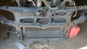 2007 rad support with radiator and condenser VW jetta city