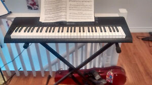 Keyboard with stand, great condition!
