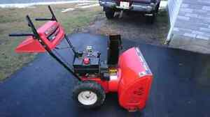 Mastercraft snowblower 8 hp 26 inch cut with electric start.